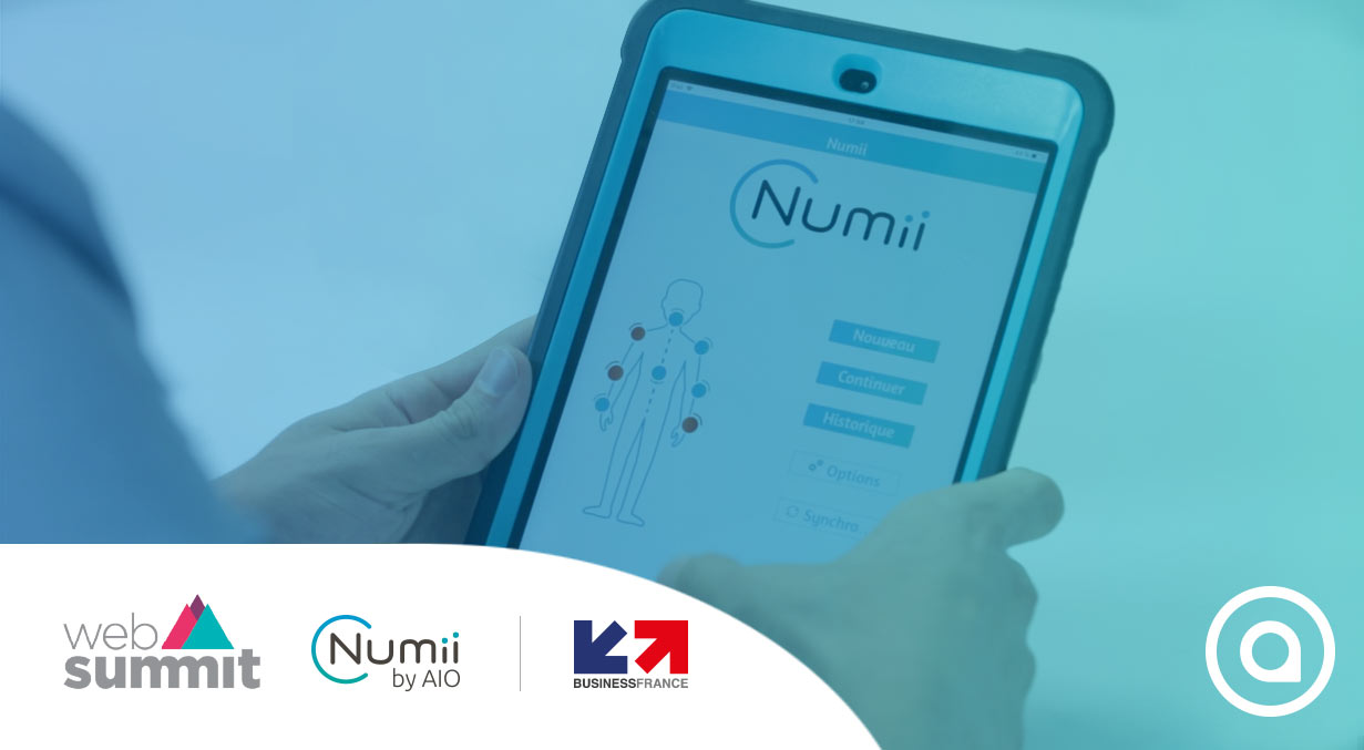 Web Summit tech fair 2019 Numii swarm intelligence AI by AIO and Business France